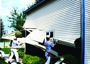 Vinyl Siding Flies Off