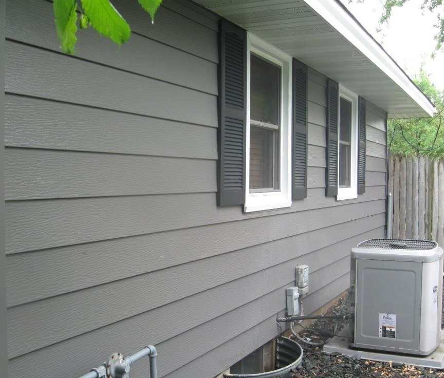 Charcoal Gray Siding Coon Rapids