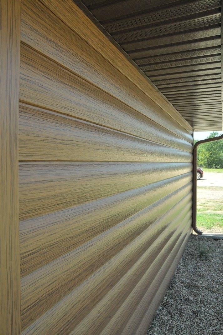 ABC Seamless Steel Log Home Siding
