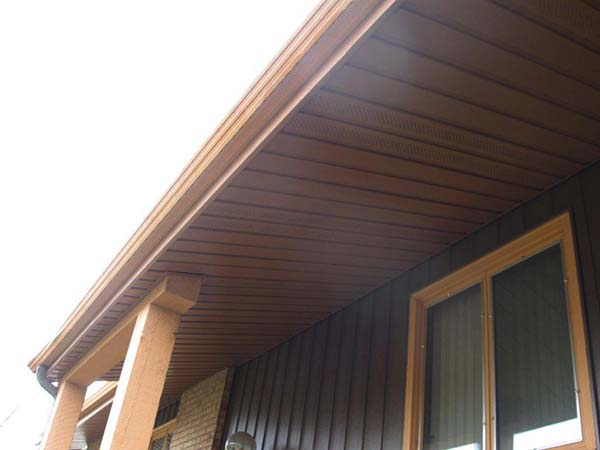 Steel Soffits And Fascias Seamless Siding Installation