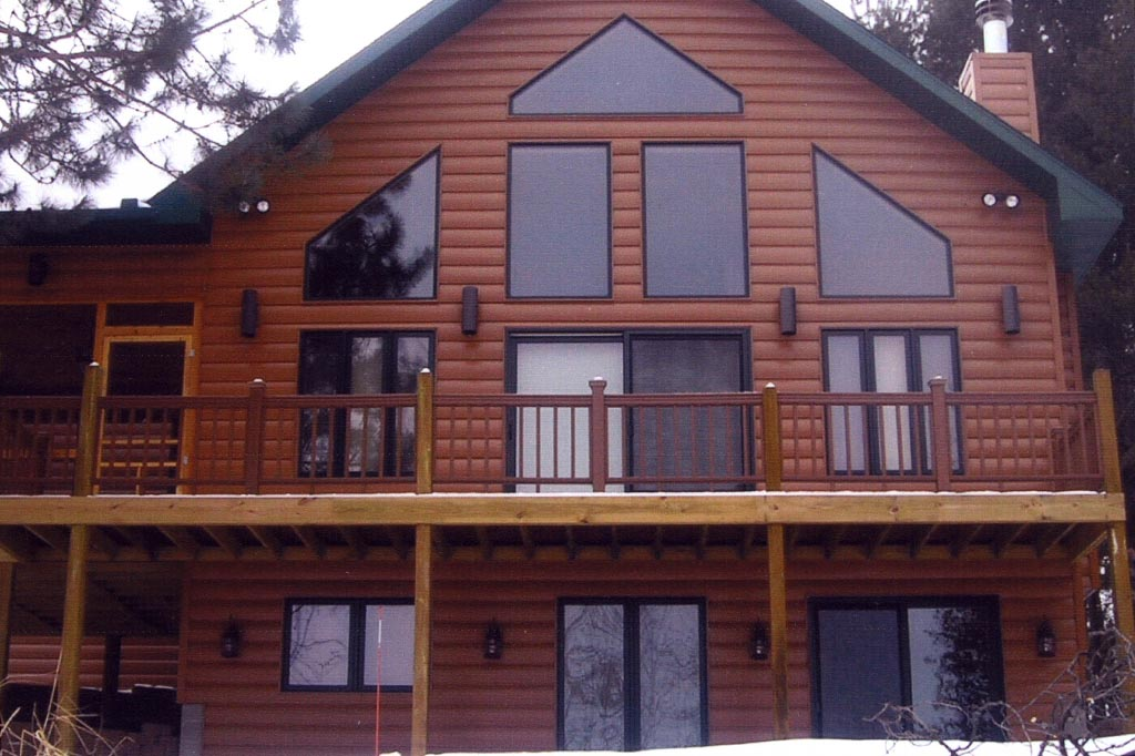 Seamless Steel Log Siding Steel Siding Contractor And