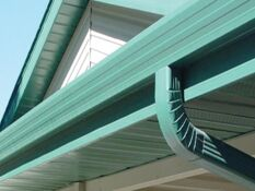 Seamless Oversized 6 Inch 3x4 Downspout Gutter System