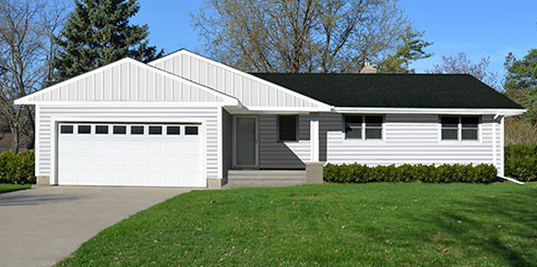 Interactive color selector for your siding trim soffit - What is a ranch house ...